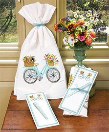 Flour Sack Towels w/ Magnetic Note Pad Set