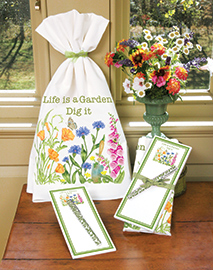 Flour Sack Towels w/ Magnetic Note Pad Set