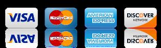 Visa, Mastercard Accepted