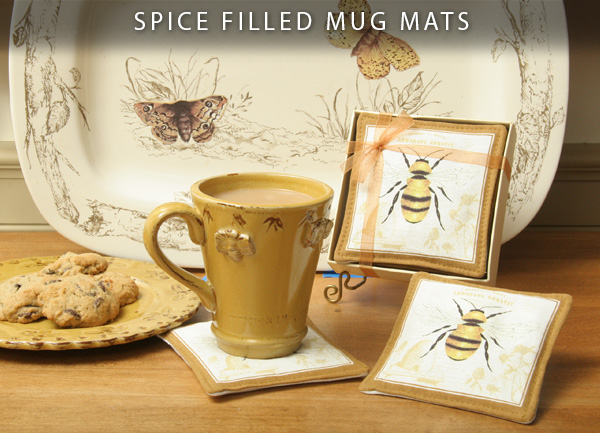 Spice Filled Mug Mats
